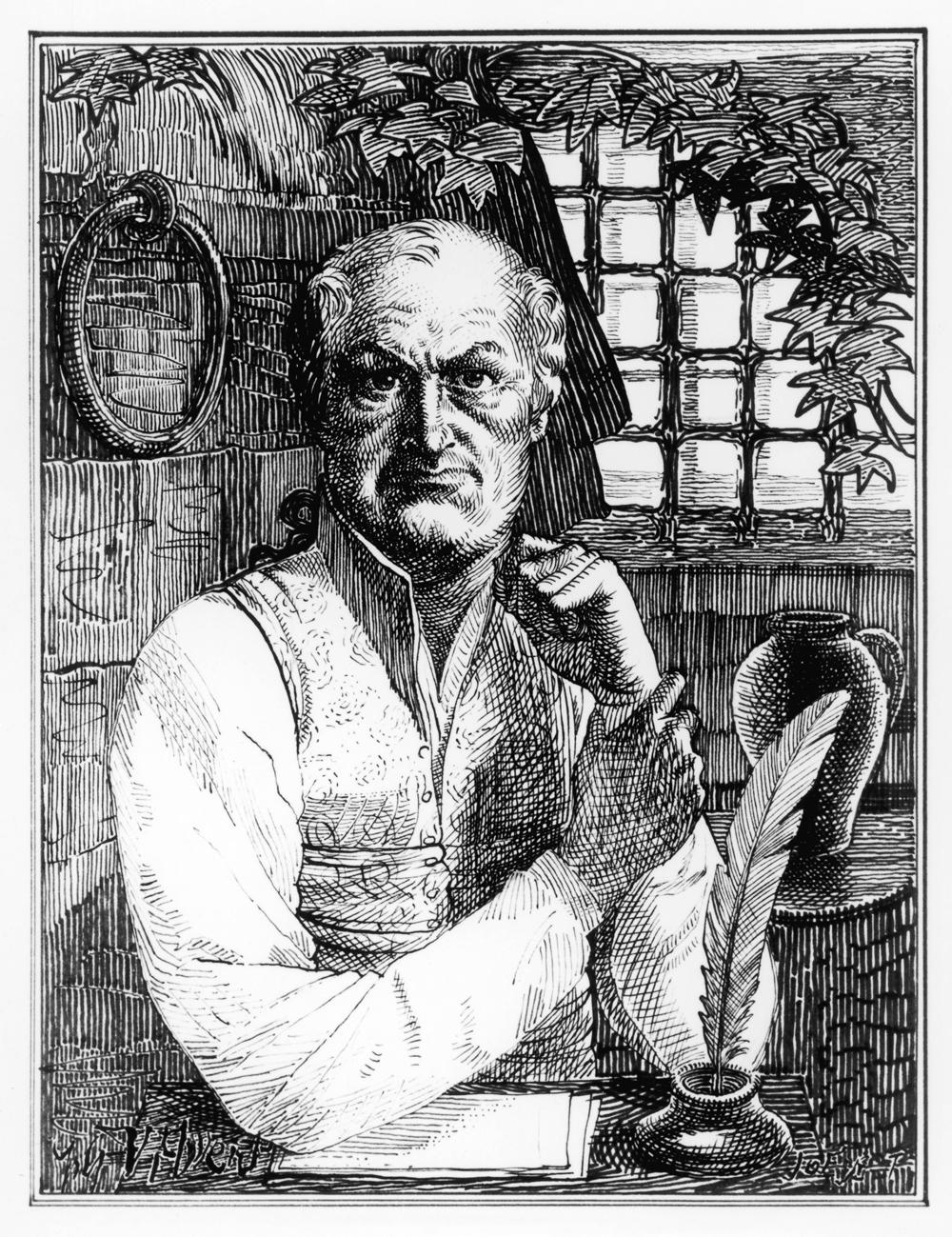 Gravura de Donatien Alphonse François, Marquês de Sade. Mary Evans / Rue des Archives.
