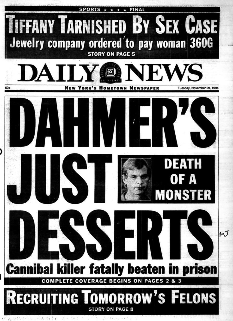 Reportagem de Época: A Sobremesa de Dahmer. Morte de um Monstro. Assassino Canibal Espancado até a Morte na Prisão.
