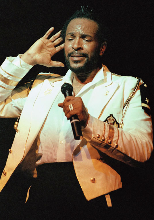 O rei do soul Marvin Gaye 11 meses antes de sua morte. AP Photo/Nancy Kaye.