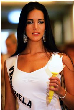 A Miss Venezuela Mônica Spear. Reprodução Internet.