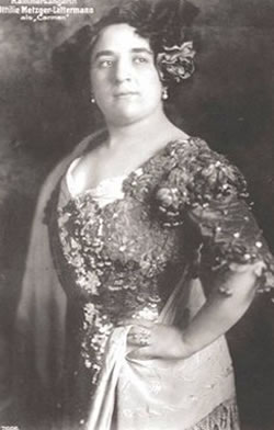 A famosa Contralto alemã Ottilie Metzger-Lattermann. Reprodução Internet.