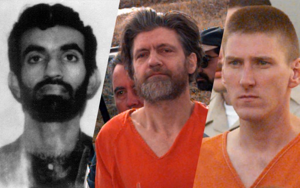 Ramzi Yousef, Ted Kaczynski e Timothy McVeigh. Os três cometeram graves atentados a bomba em território americano. McVeigh foi executado, e Yousef e Kaczynski cumprem prisão perpétua em ADX Florence.