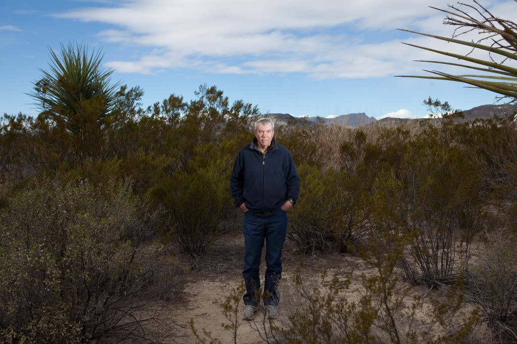 David Kaczynski em sua propriedade no sudoeste dos Estados Unidos, em janeiro de 2016.