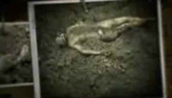 Corpo encontrado no Rancho Santa Elena. Foto: Documentário Narcosatánicos.