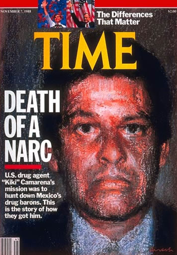 A brutal morte do agente federal Enrique Camarena foi capa da Revista Time.