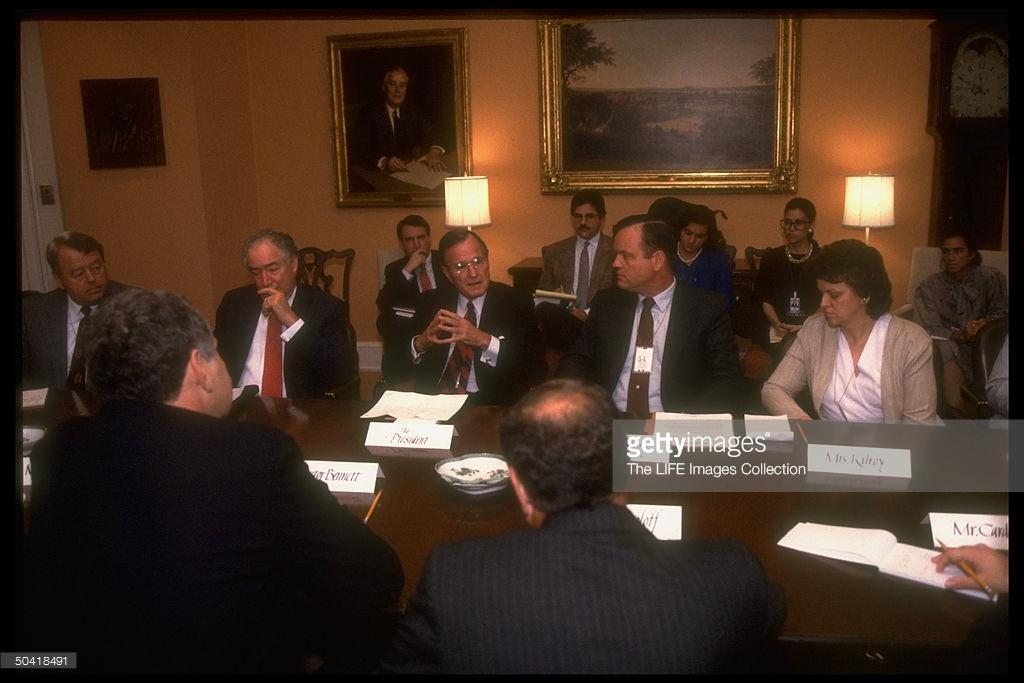 George Bush e os pais de Mark Kilroy