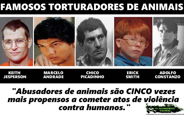 amosos torturadores de animais