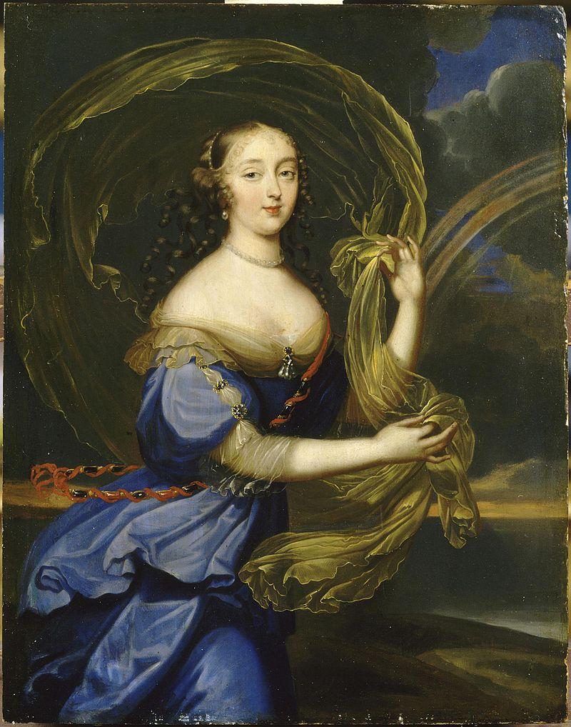 Retrato da Marquesa de Montespan, pintado na segunda metade do século XVII. Quadro atualmente está exposto em um museu de Versalhes, França.