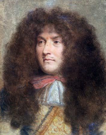 Retrato do Rei Luís XIV, por Charles Le Brun, pintado em 1655.