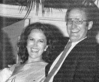 Sandra e o seu segundo marido, Bobby Bridewell.