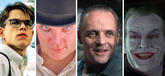 """Quatro dos mais famosos psicopatas da literatura do século 20 ganharam as telonas em filmes à altura dos livros: Tom Ripley (Matt Damon, """"O Talentoso Ripley"""", 1999); Alex (Malcolm McDowell, """"Laranja Mecânica"""", 1971); Hannibal Lecter (Anthony Hopkins, """"O Silêncio dos Inocentes"""", 1991) e Coringa (Jack Nicholson, """"Batman"""", 1989)."""