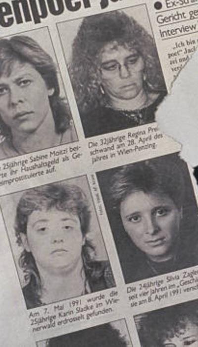 Reportagem de época de revista austríaca mostra vítimas do serial killer.