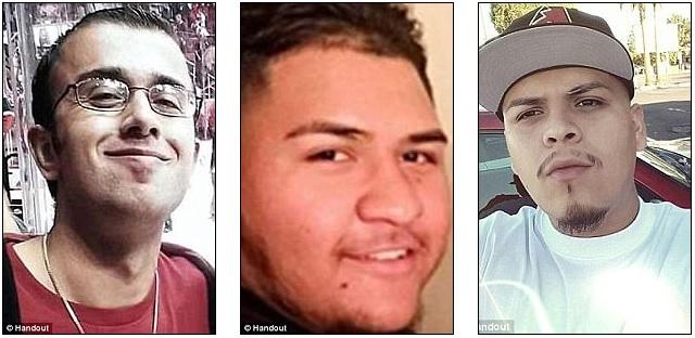 Horacio De Jesus Pena, 32, morto em 3 de junho. Manuel Castro Garcia, 19, morto uma semana depois em 10 de junho. Diego Verdugo-Sanchez, 21, morto em 1 de abril de, 2016.
