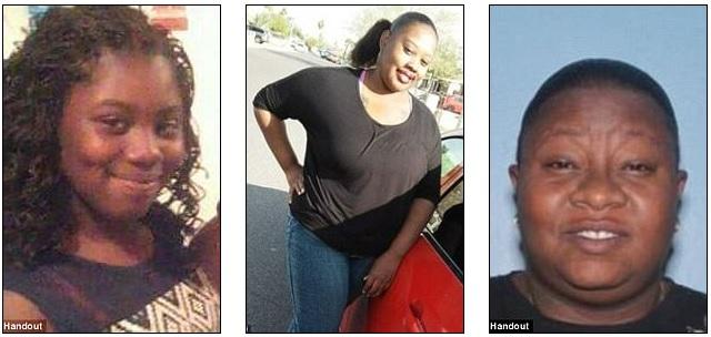 Maleah Ellis, 12; Stefanie Ellis e Angela Linner. As três mulheres foram assassinadas em 12 de junho. Maleah e Stefanie eram mãe e filha, e Angela era amiga de Stefanie.
