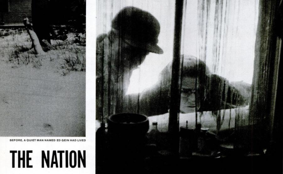 """Imagem da reportagem """"House of Horrors"""" da revista americana Life de 2 de Dezembro de 1957."""