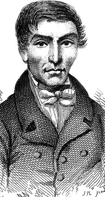 Retrato de William Hare feito pelo pintor George Andrew Lutenor em 1829 durante julgamento do serial killer.