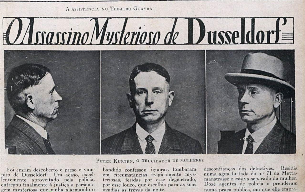 Reportagem da Revista Cruzeiro. Data: 5 de Julho de 1930.