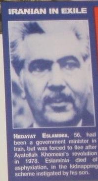 Hedayat Eslaminia. Foto: Murder Casebook, Ed. 1992.