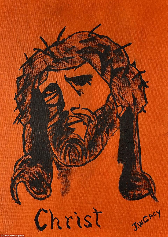 Essa pintura de Cristo também foi a leilão.