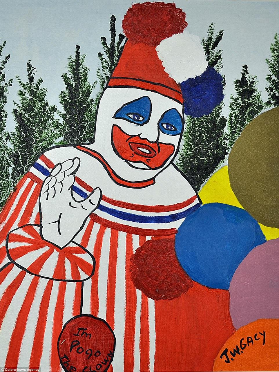 """Quem irá arrematar o famoso quadro """"Eu sou Pogo, o Palhaço""""?"""