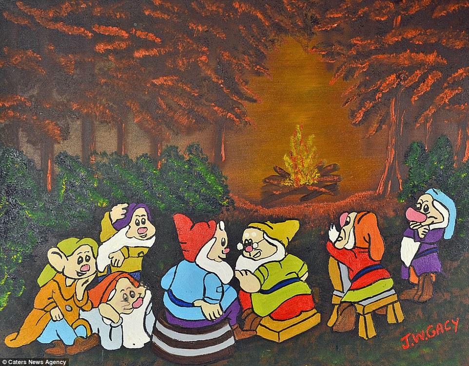 Branca de Neve e os Sete Anões, por John Wayne Gacy.