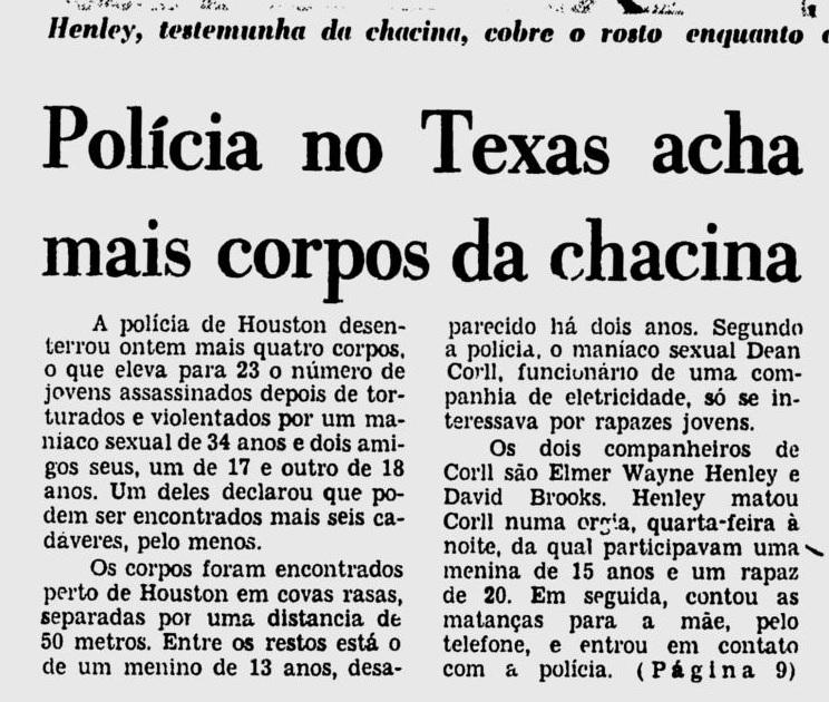 Reportagem do Jornal do Brasil. Data: 11 de Agosto de 1973.
