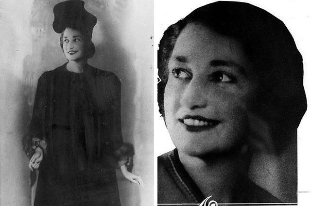 À esquerda o manequim utilizado pela polícia para reconstruir a aparência de Pauline Thompson, encontrada morta em St. Spring, Melbourne. À direita uma foto da vítima. Foto: HWT Library.