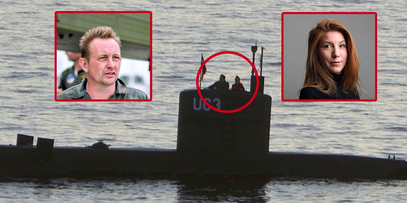 Foto publicada pela agência Reuters mostra Peter Madsen e Kim Wall a bordo do UC3 Nautilus.