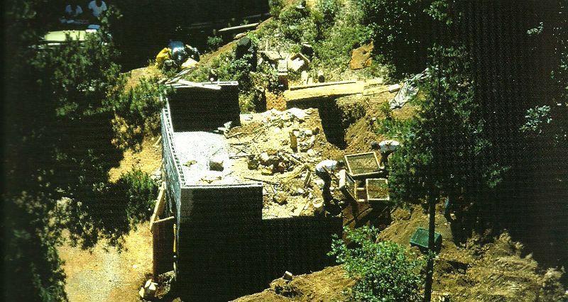 Vista aérea do bunker de Leonard Lake. Foto: Departamento de Polícia do Condado de Calaveras.