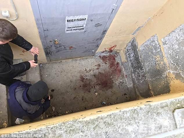 O beco onde Irina foi assassinada por um serial killer.