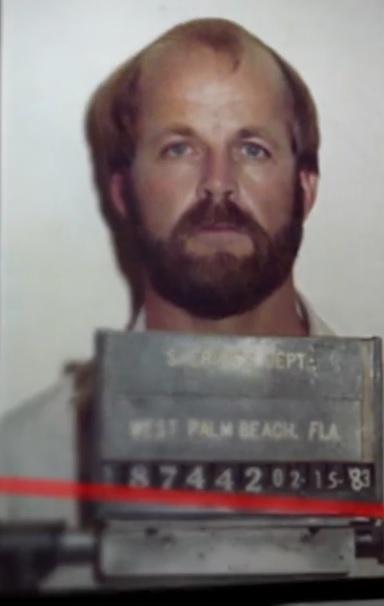 Christopher Wilder fichado pela polícia americana em 1983.