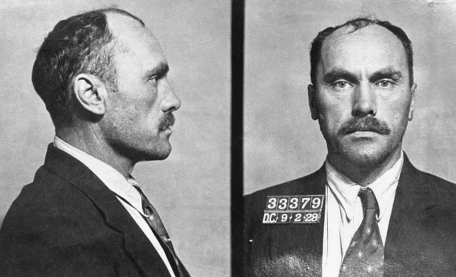 Carl Panzram, fotografado pela última vez nos registros policiais. Data: 2 de setembro de 1928.