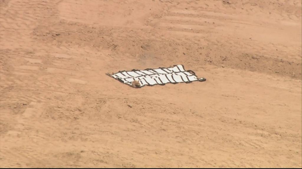 Local onde ossos humanos foram encontrados no início de julho de 2018. Foto: CBS.