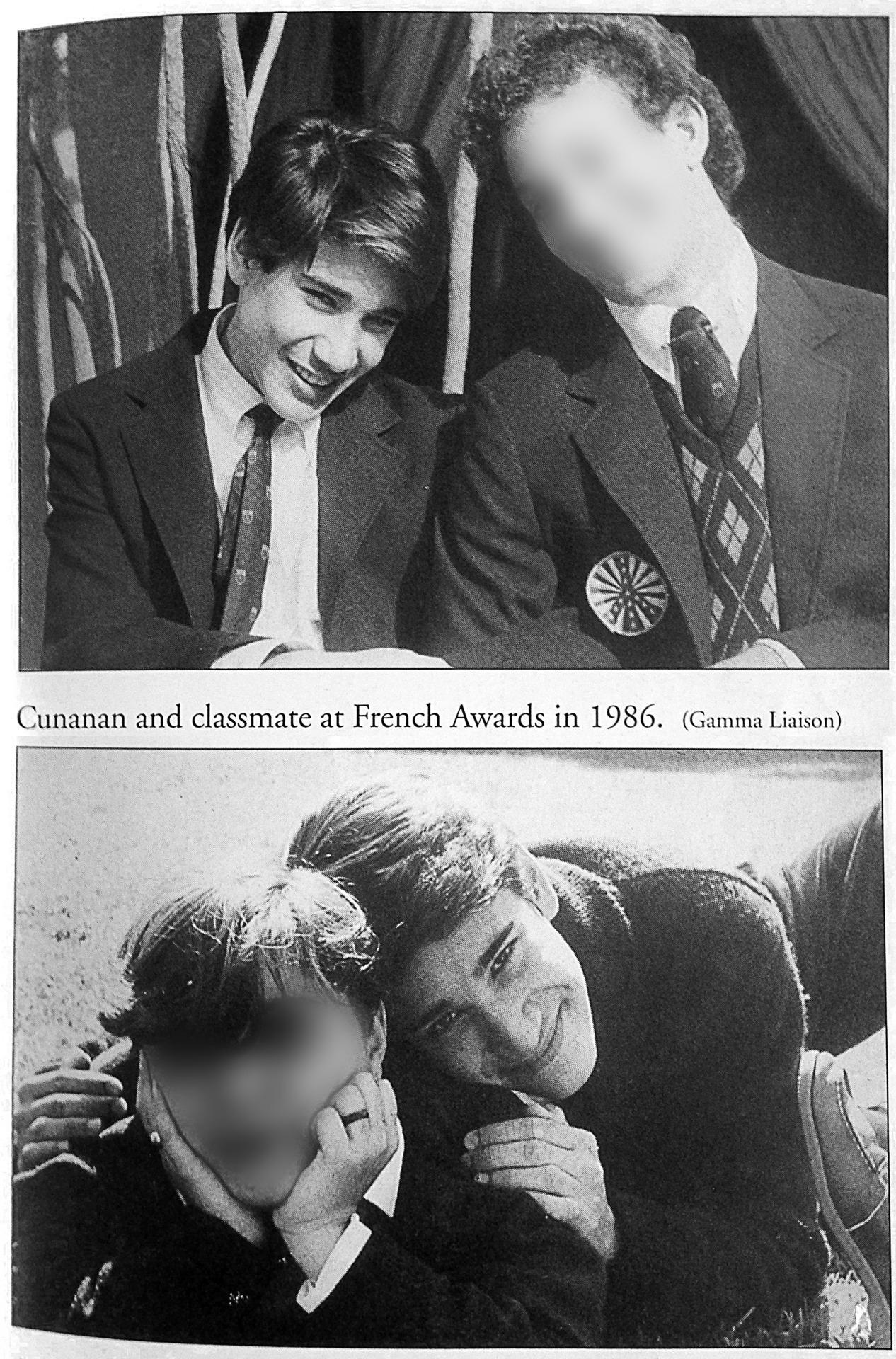 Andrew Cunanan, aos 16/17 anos, em 1986, com amigos de colégio.