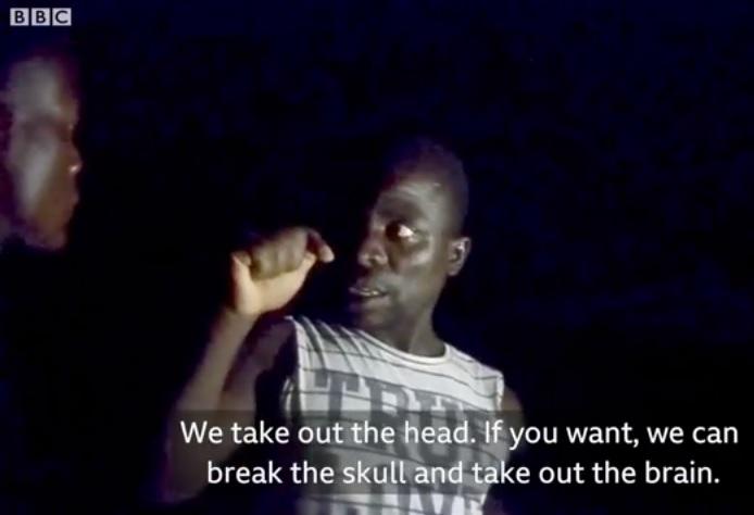 O bruxo Njuku Mpata. Foto: BBC - Malawi Human Harvest.