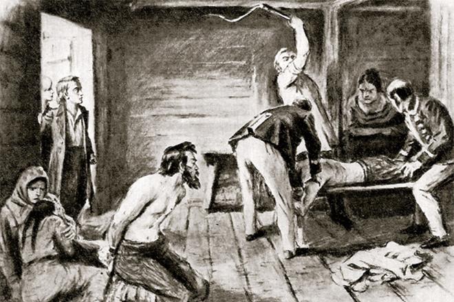 Ilustração da tortura de Darya Saltykova. Foto: Russian Times.