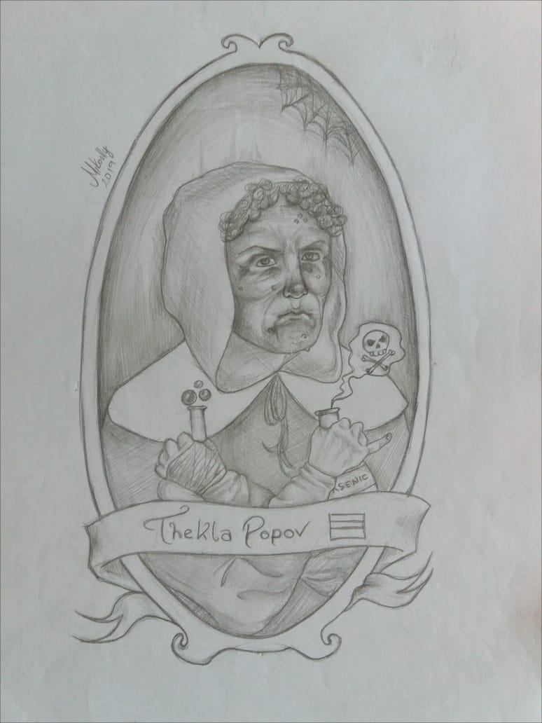 Ilustração de Thekla Popov. Por Mikaelly Silva.