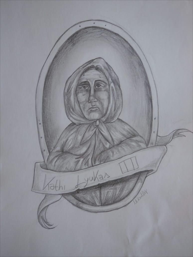 A envenenadora em série e empreendedora da morte Kathi Lyukas. Ilustração de Mikaelly Silva.A envenenadora em série e empreendedora da morte Kathi Lyukas. Ilustração de Mikaelly Silva.
