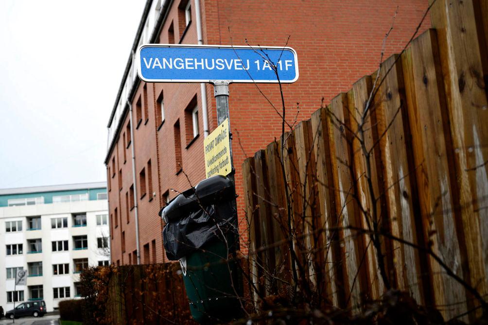 Rua Vangehusvej, endereço onde três idosos foram mortos em um mês. Foto: Berlingske.