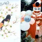 """John Wayne Gacy: pintura """"papa-figos"""" do serial killer está à venda em site na Internet"""